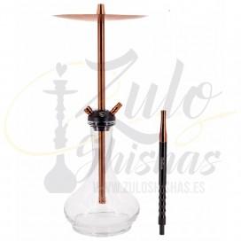 Imágenes de cachimba Cold Smoke Gold Rose Arrow Max con base de cristal DROP tipo Alpha Hookah