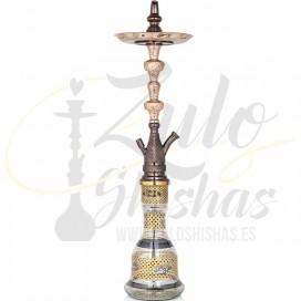 Imágenes de cachimba Khalil Mamoon Azaz Oxidized Gold comprar online Tradicionales cachimbas