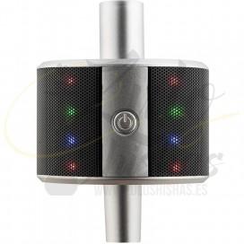 Imágenes de altavoz para cachimbas Alligator Soundbar Speaker en color plateado altavoz para cachimbas