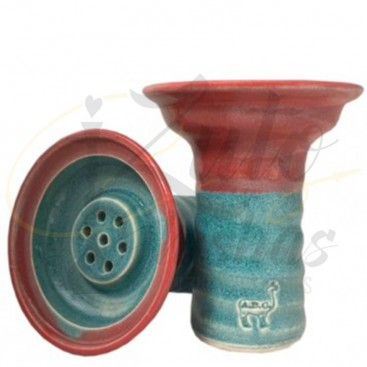 Imágenes de cazoleta Alpaca Lipache - Lighb Blue over Red compatible con Kaloud Lotus · Originales