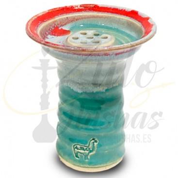 Imágenes de cazoleta Alpaca Bowl Lipache Lichg Blue over Orange