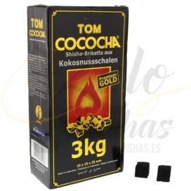 Imágenes de carbón vegetal para hookah Tom Cococha Gold 3kg