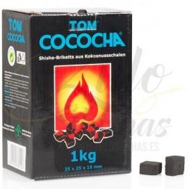 Imágenes de carbón natural de coco en formato Flat