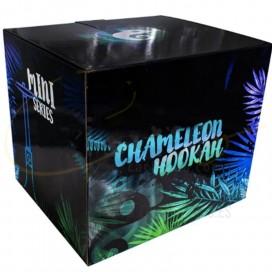 Imágenes de cachimba o shisha Chameleon Mini de resina ILMENITA negra y blanca