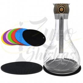 Imágenes de alfombrilla para bases de cristal de shisha fabricadas en Silicona de varios colores