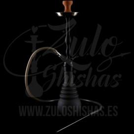 Imágenes de cachimbas y shishas SPN 630 en color negro con manguera de silicona