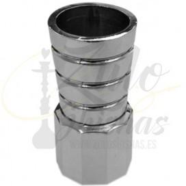 Imágenes de adaptador de mangueras para cachimba o shisha PNX 480 en color plateado y negro