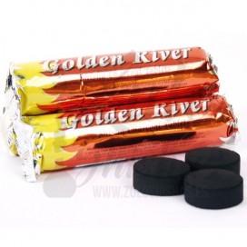 Imágenes de carbón para shisha Golden River autoencendido sabor a menta