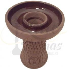 Imágenes de cazoleta de Hispacachimba fabricada en barro negro poroso - Cazoletas para Kaloud Lotus