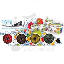 Imágenes de gelatina o gel fumable para cachimbas o shishas sabor Ectasy Ice Frutz