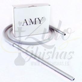 Imágenes de cachimba o shisha AMY Deluxe 470 Small Rips Black - Clear