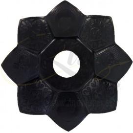 Imágenes de plato para shisha Lotus o Sultan en color negro