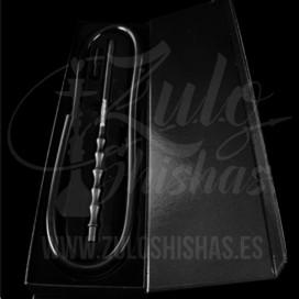 Imágenes de manguera Elox Sirius en color negro para cachimbas