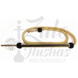 Imágenes de manguera o tubo de shisha Farida cachimbas original dorada y negra