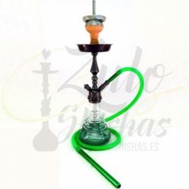 Imágenes de cachimba o shisha 014 Sweet Harmony verde y plateada
