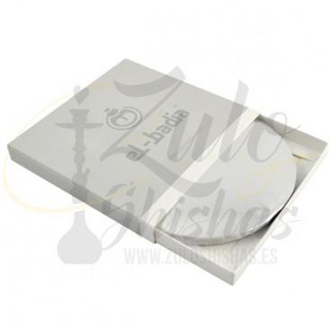 Papel de aluminio grueso precortado para cachimbas y shishas El Badia
