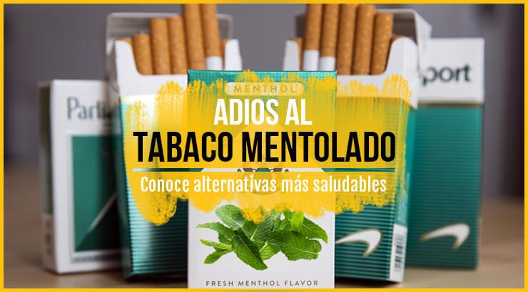 Alternativas al tabaco con mentol o cigarrillos de menta.