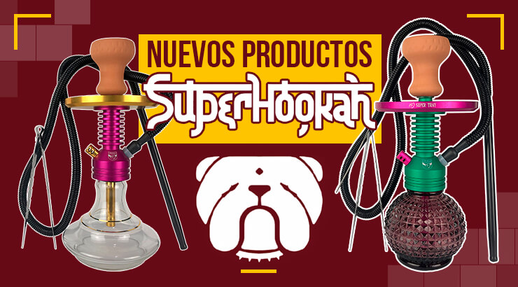 Nuevos productos SuperHookah, cachimbas modernas y compactas.